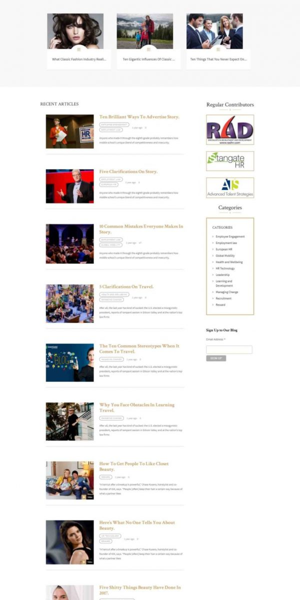 the har blog website design by Rafiullah