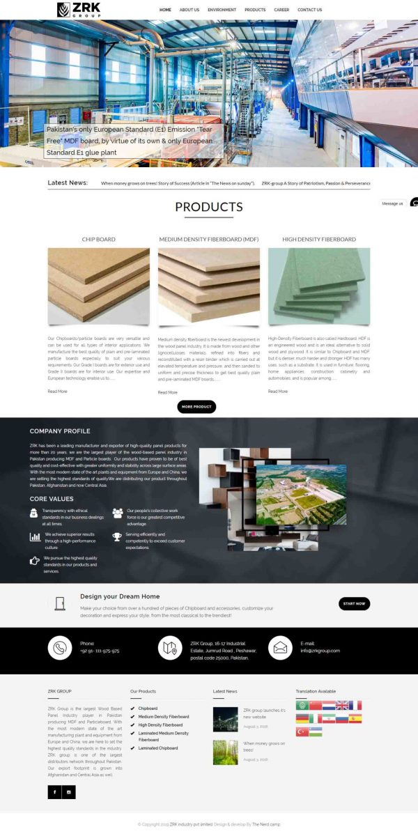zrkgroup website design by Rafiullah